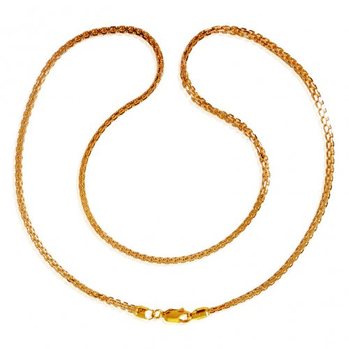 22kt Gold Two Tone Ladies Chain