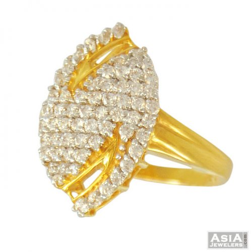 Ladies Fancy Signity Gold Ring(22k)
