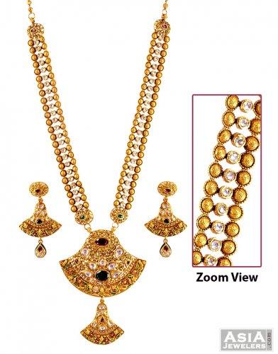 22K Kundan Bridal Patta Set - AjNs56956 - 22k Gold ...