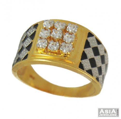 22k gold stones ring mens ajri54354 22k gold s