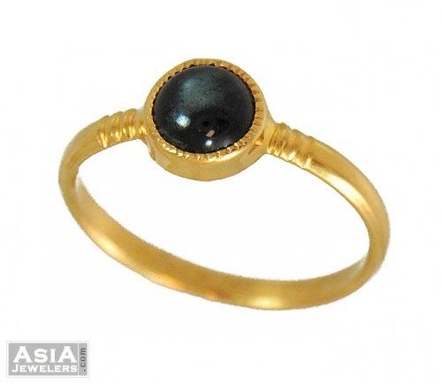 black stone gold ring - photo #21
