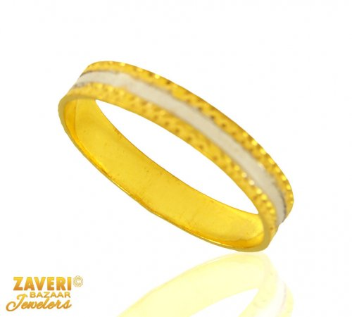 22 Kt Gold Band (Rhodium Plated)