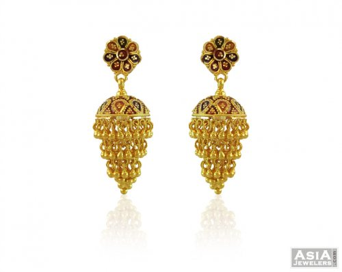 unique beautiful hook earrings gold pearls earring of drops designs