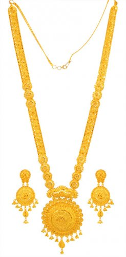 22K long Necklace Set