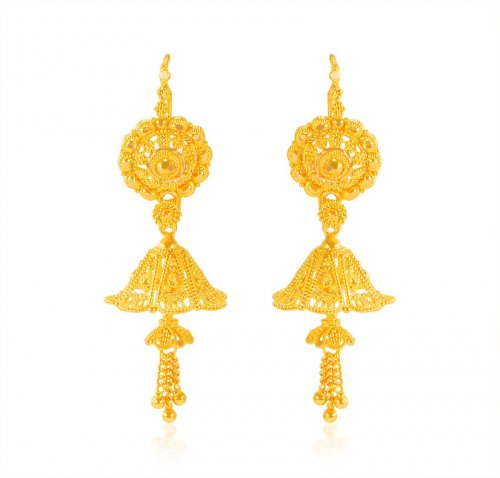 22 Karat Gold Jhumka Earrings