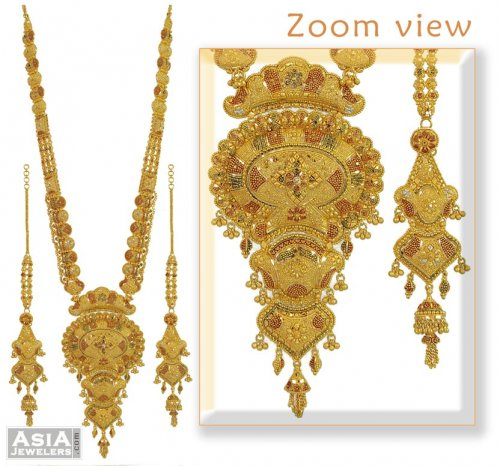 22kt Gold Long Multicolor Set