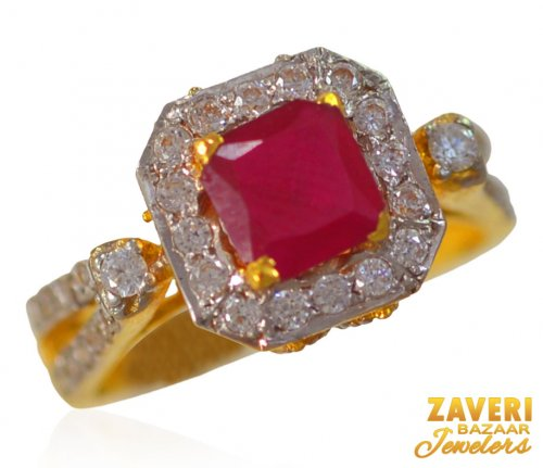 22kt Gold Ruby Ring