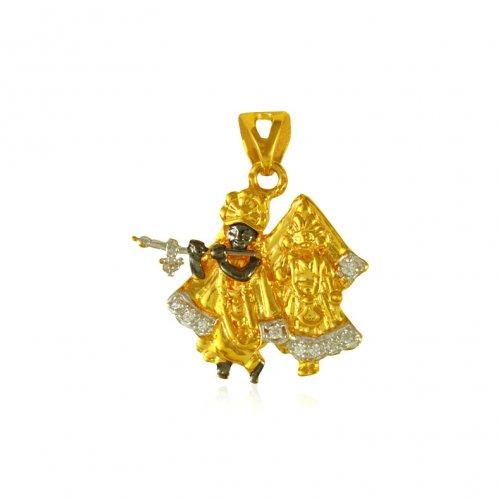 Radha krishna pendant 22k gold ajpe65511 us 314 22 kt gold radha krishna pendant 22k gold aloadofball Choice Image