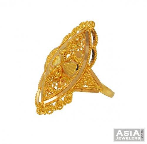 22k yellow Gold Bridal Ring AjRi 22k yellow gold Bridal