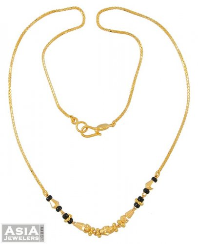 Black And Gold Chain Necklace Gold Necklace With Black Beads