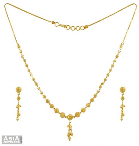 light necklace set gold