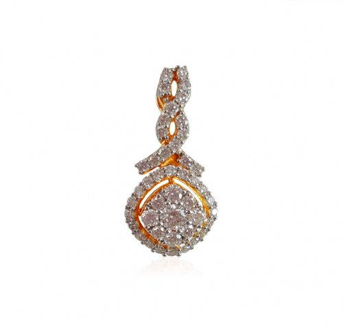 18Karat Yellow Gold Diamond Pendant