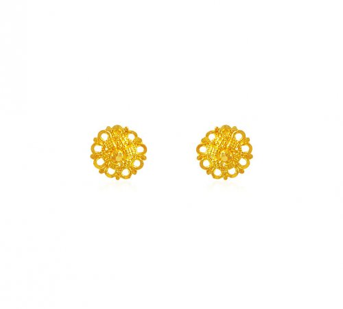 22k Gold Baby Earrings