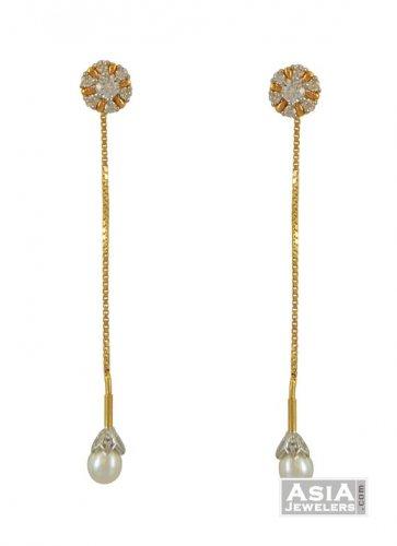 22k Signity Fancy Earrings