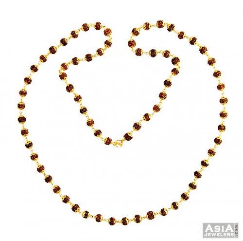 22k gold rudraksha mala asch57448 22k gold rudraksha
