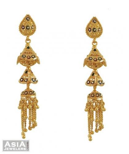 22k indian chandelier earrings ajer53520 22k gold multi 22k indian chandelier earrings aloadofball Choice Image