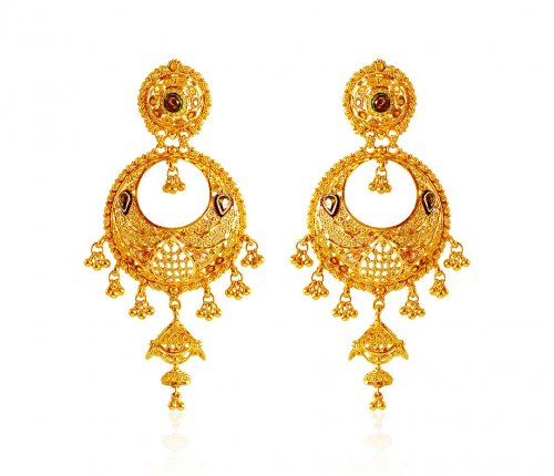 Chand Bali Gold Earrings