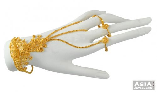 Fancy Bridal Bracelet Ajbr52056 22k Gold Fancy Bridal Bracelet
