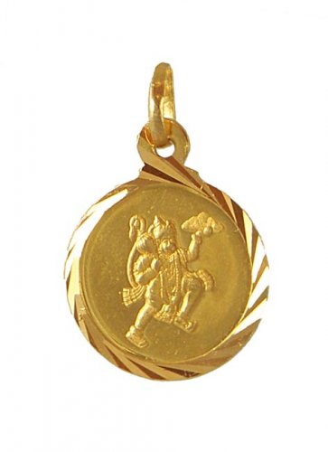 gold hanuman pendant ajpe50946 22k gold hanumanji