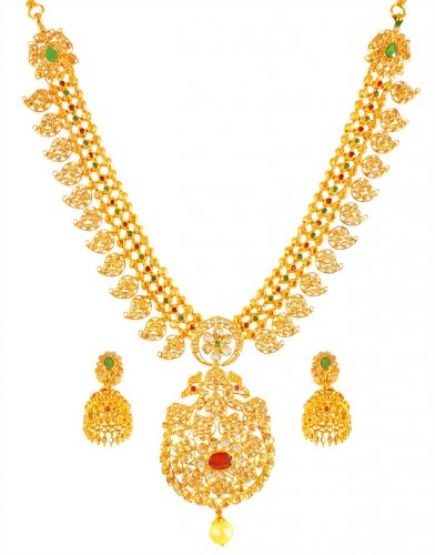 22K Gold Uncut Diamond Set