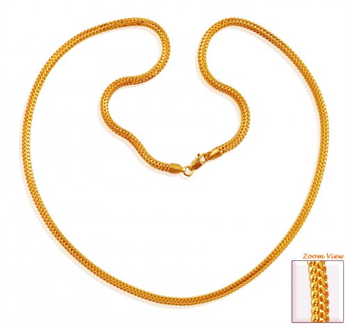 22k Gold Designer Chain 22 In Ajch59993 22k Gold