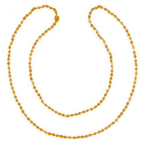 22K Gold White Tulsi Chain