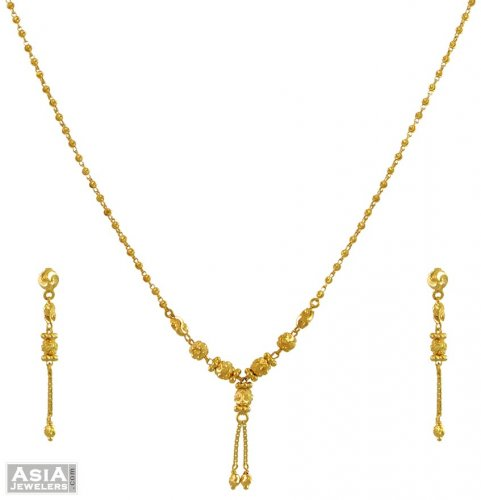 22 KT Gold MangalSutras Chains With Black Beads  1632