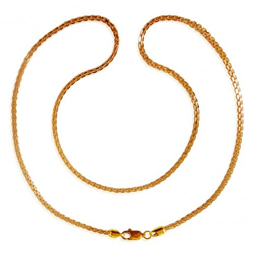 22kt Gold Two Tone Chain (18 Inch)