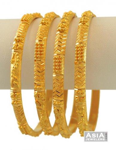 f2ce3f513 22K Gold Bangles Set - AjBa55006 - 22K Indian Gold Bangles (set of 2 ...