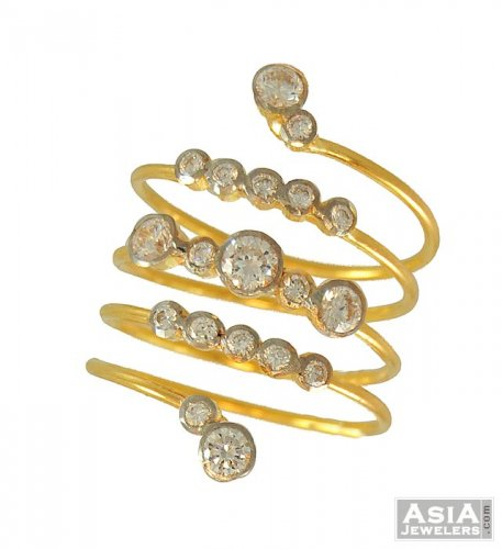studded spiral ring fancy gold rings