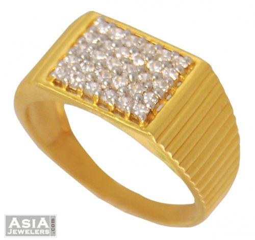 22K Designer Mens Signity Ring AjRi 22K gold designer