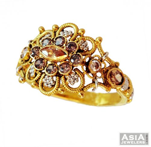 22k Gold Las Designer Ring