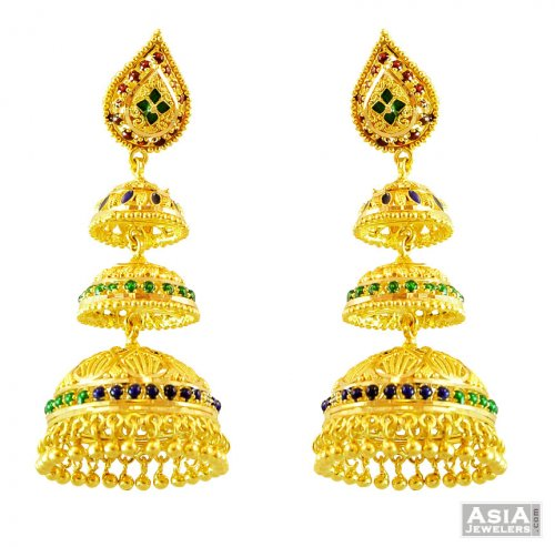 Indian Jhumka 22k Gold