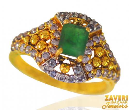 22kt Gold Multicolor Stone Ring