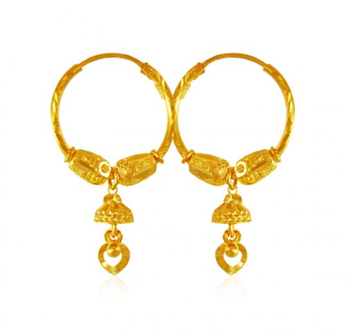 Hoop Earrings 22Kt Gold
