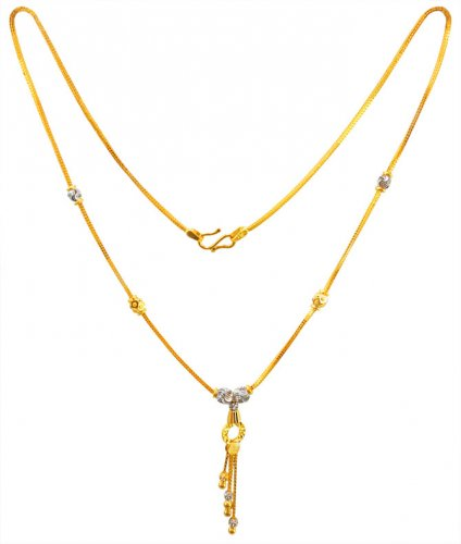 22Karat Gold Two Tone Ladies Chain
