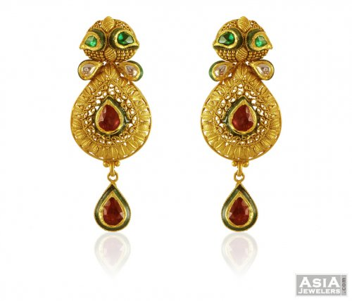 22k Gold Antique Earrings
