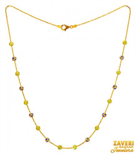 22k Gold Multicolor Beads Chain