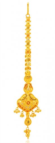 22Kt Gold Three Tone Tikka