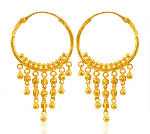 22 Karat Gold Bali Earrings