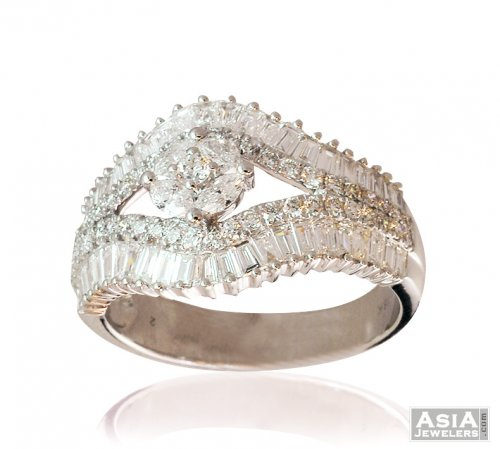 Designer Diamond Ladies Ring 18K ajdr57459 US 4592 18k White