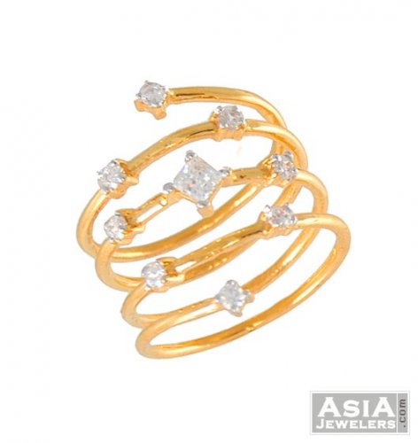 india gold flower ring shopping spiral grt online rings jewelry cluster