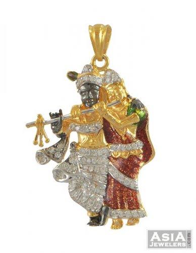 Radha krishna pendant 22k gold ajpe54054 22k gold radha radha krishna pendant 22k gold aloadofball Images