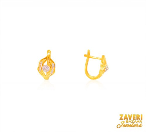 22K Gold Clip On Earrings