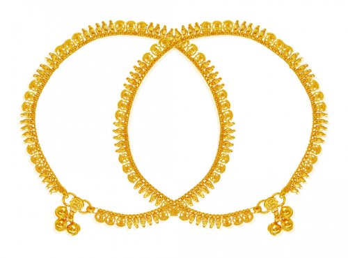 22 Karat Gold Payal (2 PC)