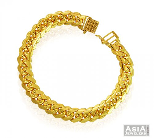 Links 22k Gold Mens Fancy Bracelet