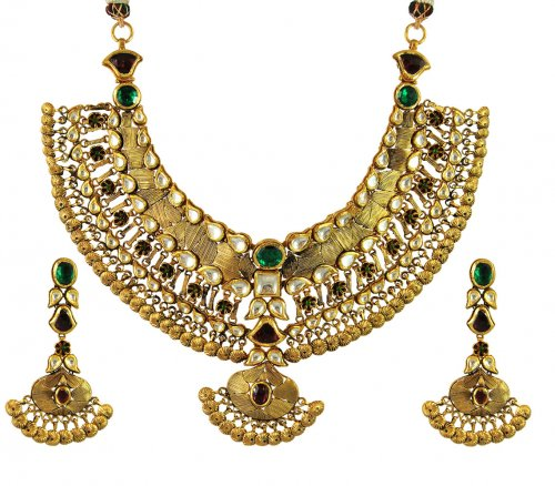 22k Exclusive Bridal Kundan Set AjNs55284 22k gold exclusive