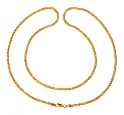 22 Karat Gold Two Tone Ladies Chain