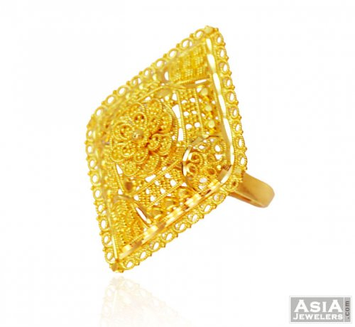 enamel virani products cocktail gold handpainted ring gm yellow w jewelers rings for