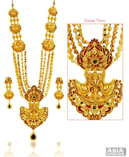 is bridal image cubic gold itm jewellery plated cz set loading heavy s necklace bollywood zirconia